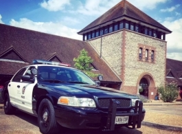 LAPD American cop car for weddings in London